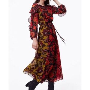 LOFT MULTI-COLOR MAXI DRESS